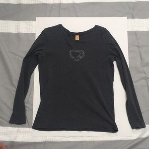Lucy grey long sleeve top size XL